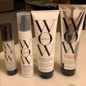 Accessories - Color wow shampoo, conditioner, spray, serum